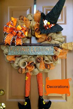 Front Door Decorations ~ Flying Lessons Wreath ♥  #pintowingifts