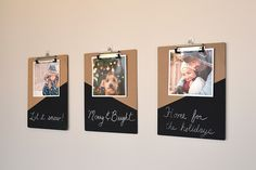 Clipboard Photo Frame – You can swap out photos as you like and change up the captions with these easy to make frames.