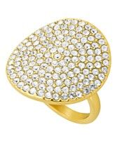 COACH PAVE DISC RING
