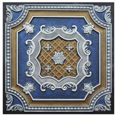 3 Ways to Use Vintage Tin Ceiling Tiles in the Bathroom 2x2 Ceiling Tiles, Ceiling Grid, Roof Ceiling, Ceiling Fans, Art Deco Tiles, Ceiling Medallions, Ceiling Design, Hand Painted, Fine Art