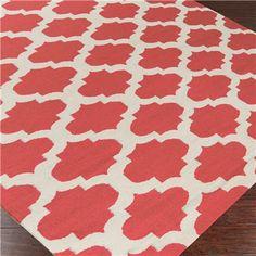 surya frontier casablanca bright coral hand woven flatweave rug for room