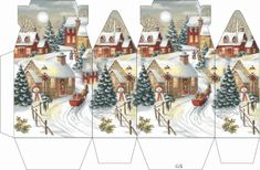 Christmas Cheer Advent Calendar, New Fun & Whimsical: Vermont Christmas Company Christmas Time, Christmas Crafts, Christmas Decorations, Xmas, Christmas Ornaments, Deco Table Noel, Diy And Crafts, Paper Crafts, Diy Gift Box