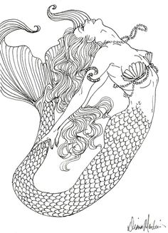 I Want My Mermaid To Look Like This But In A Different Pose