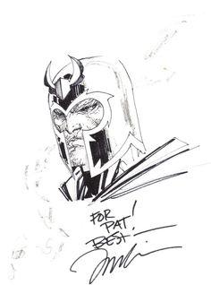 Magneto sketch | Jim Lee