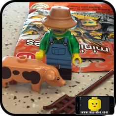 1. Granjero ok!  Pronto haciendo fotos... www.legofotos.com 2016 Lego Fotos Fotografía: @PPlotzin  #suculentas y #deliciosas #fotos  #nikon #legophotography #legovideos  #disney #legostagram  #legominifigs #brickfans #creative #legos #bricks #art #bricknetwork #toy #build #creation  #minifigure #minifigures  #legoland #granjero #farmer #pig #ready by legofotos_