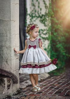 Bow Dress by Irina Chernousova on Cute Little Girl Dresses, Cute Outfits For Kids, Toddler Girl Dresses, Flower Girl Dresses, Toddler Fashion, Fashion Kids, Girls Special Occasion Dresses, Dress With Bow, Baby Dress
