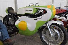 Kawasaki H1-R H1R Works Racing Motorcycle. One Beautiful Race Bike.