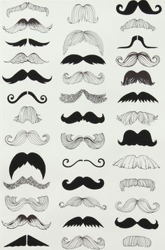 Image discovered by Thalissa. Find images and videos about illustration, mustache and moustache on We Heart It - the app to get lost in what you love. Alexander Henry Fabrics, Art Plastique, Facial Hair, Barber Shop, Art Lessons, Character Design, Black And White, Black Cream, Drawings