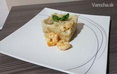 Maslové rizoto s krevetami a hubami na víne (fotorecept) - Recept
