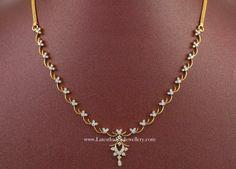 Simple Indian Diamond Necklace Designs