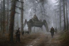 ArtStation - 1920 - german wolfs, Jakub Rozalski