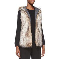 Rank & Style - 6 Shore Road Hopi Reversible Faux Fur Vest #rankandstyle