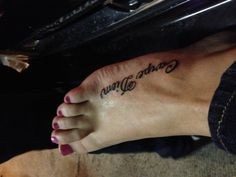 """I've always wanted a """"Carpe Diem"""" tattoo :) Idk about on my foot though, but this font is kinda pretty."""