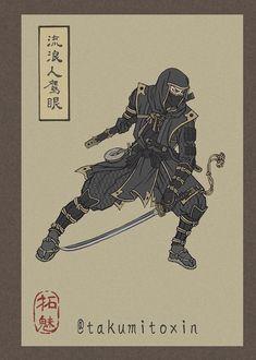 Illustrator Reimagines Avengers Endgame Characters as Ukiyo-e Style Japanese Warriors
