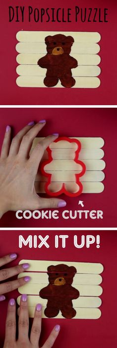 DIY Popsicle Puzzles are fun and easy to make! #DIY #Parenting #ArtsAndCrafts…
