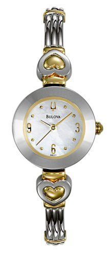 Bulova Women's 98L111 Bangle Bracelet Watch Bulova. $90.00. Brass case; Mother-of-pearl dial. Water-resistant to 99 feet (30 M). Quality Japanese-Quartz movement. Mineral crystal