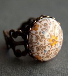 Vintage Blue Holland Ring   May flowers bloom year-round with this vintage ring. Made in J...   Rings