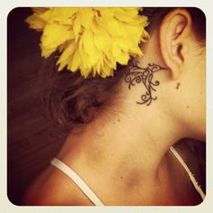 Hummingbird tattoo... love the position... thats where I want my hummingbird tattoo to be.