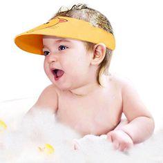 New Kids Bath Visor HatAdjustable Baby Shower Cap Protect Shampoo Hair Wash Shield For Children Infant Splashguard Waterproof