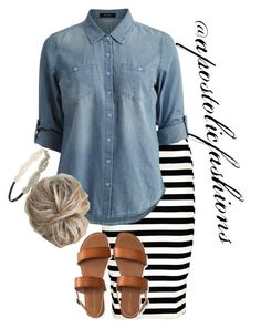 """Apostolic Fashions #1765"" by apostolicfashions on Polyvore featuring Boohoo, Vila Milano, Aéropostale and Forever 21"