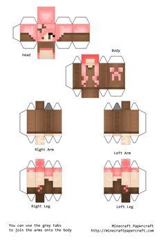 Papercraft Creeper Girl