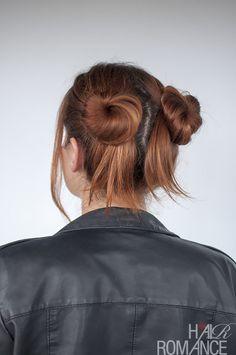 Hair Romance - 90s normcore hair - double bun tutorial