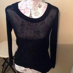 Black top Black soft long sleeve top Tops Tees - Long Sleeve