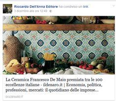 Si parla della Ceramica Francesco De Maio  #100eccellenze #ceramicafrancescodemaio #madeinItaly