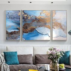 Abstract oil Painting Acrylic canvas Painting Cuadros Original painting 3 pieces wall ar Wall Pictures Drawing pictures cuadros abstractos