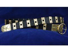 Medieval belt pas rycerski okuty. Wszystkie blaszki ręcznie zdobione, pas tłoczony ręcznie, każdy tłok oddzielnie metodą tzw. ślepego tloczenia.