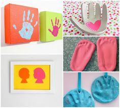 Eternizando mão e pés para o dia dos pais