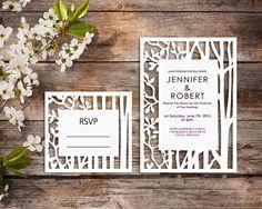 Wedding invitation SVG DXF ai CRD eps Laser Cut
