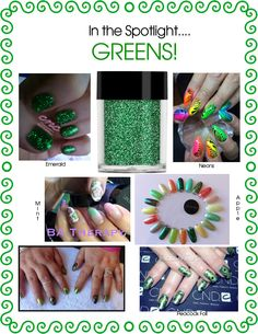 When Maria walked into the office this morning back from The Event her #nails caught my eye!! #Foils and #glitter all with Greens! #Greens can be so powerful and yet softer shades are perfect for the Spring - so I decided to create a little homage to #lecente greens! #lovelecente #nailart