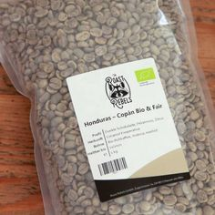 Organic and fair trade green coffee from Honduras for home roasting. Coffee Roasting, Coffee Drinks, Cards Against Humanity, Organic, Chocolate, Chocolates, Brown