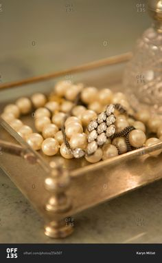 Close up of costume jewelry stock photo - OFFSET