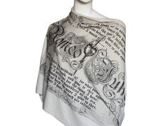 Romeo and Juliet Book Scarf by LiteratiClub on Etsy