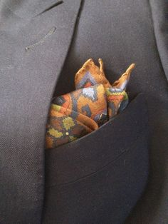 A linen pocket squares...nice change from silk!