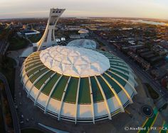 stade olympique montreal Olympic Stadium Montreal, Gopro, Photos, Fair Grounds, Around The Worlds, Canada, Architecture, Drones, Addiction