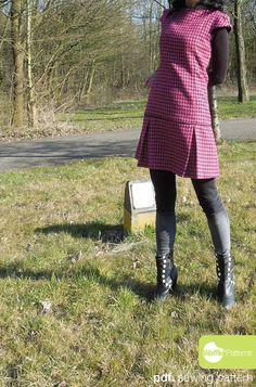 Patron de couture de PDF. Robe de femme Mini par WafflePatterns