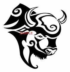 Tribal Buffalo Head Cross Stitch Chart by crossstitcher1 on Etsy