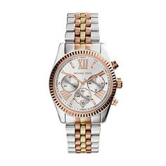 Michael Kors Womens Lexington Triology Watch Rose GoldSilverYellow Gold One Size -- Click image for more details. (Note:Amazon affiliate link)