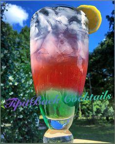 Aurora Boozialis✨ 〰〰〰〰〰〰〰〰〰〰 1 oz Sour Apple Mix 1 oz Vodka 1 oz Blue Curaçao 1 oz Arctic Frost Gatorade 1 oz Viniq~Ruby Red  1 oz Viniq~Glow 1 oz Viniq~Original Top with Powerade Zero~Grape  *Build in glass over Ice. Before topping with Powerade, gently 'poke' with straw to blend layers. Enjoy!*
