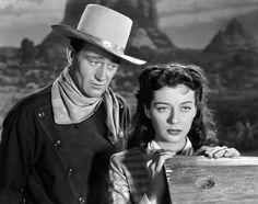 John Wayne with Gail Russell
