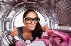 Laundry is one of those chores that no one likes doing, but everyone has to do. a lot. If you want to regularly have clean underwear or clothes without spending a ton of money on an extensive wardrobe, you have to do laundry at least a few times a… Smelly Clothes, Clothes Dryer, Doing Laundry, Laundry Hacks, Vent Cleaning, Cleaning Hacks, Smelly Washing Machines, Aide Ménagère, Joint Custody