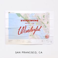 Silk screened Wonderful Map - San Francisco Bay Area. (Best Made Co.)