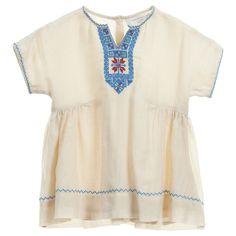Caramel Baby & Child Baby Girls Ivory Embroidered 'Niue' Dress