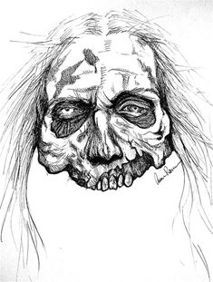 40 Insanely Cool Zombie Drawings and Sketches,For as long as I remember, I had a constant battle with my fear of zombies. Zombies are frightening dead creatures living for eating the brain. Zombie Drawings, Cartoon Drawings, Animal Drawings, Pencil Drawings, Art Drawings, Zombie Kunst, Arte Zombie, Zombie Head, Zombie Face