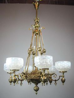 Antique Chandelier, Romanesque, Shades, Ceiling Lights, Lighting, Antiques, Design, Home Decor, Old Chandelier