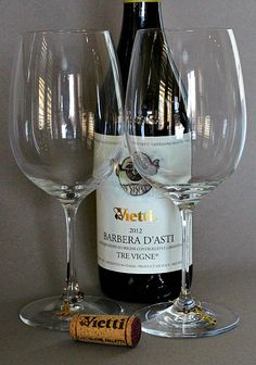 Vietti's Barbera d' Asti Tre Vigne 2012. We occasionally have either Michele Chiarlo's Superiore Le Orme or this Vietti from Italy's Piedmont. Both are relatively inexpensive and seem to go really well with most food