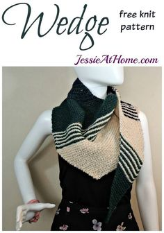Wedge free knit patt